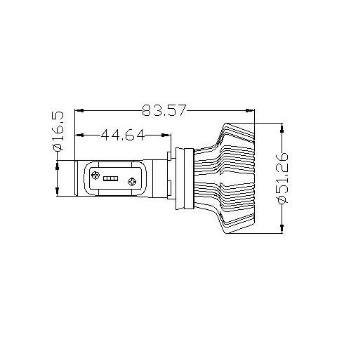 Набір світлодіодного головного світла UP-7HL-H16W-4000Lm (H16, 4000 лм, холодний білий) Прев'ю 1