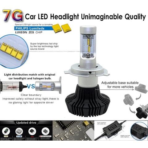 Набор светодиодного головного света UP-7HL-H3W-4000Lm (H3, 4000 лм, холодный белый) - Просмотр 3