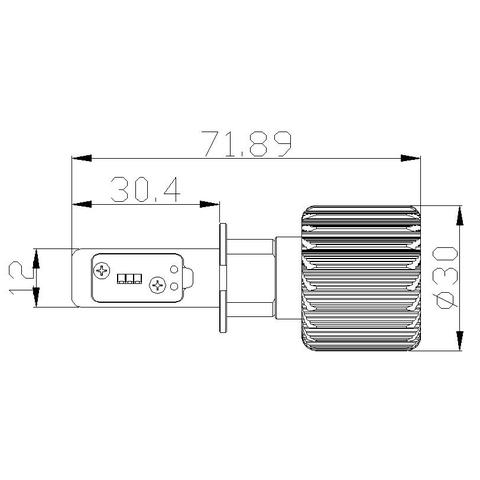 Набор светодиодного головного света UP-7HL-H3W-4000Lm (H3, 4000 лм, холодный белый) - Просмотр 5
