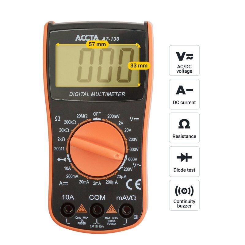 Цифровий мультиметр Accta AT-130 Зображення 7