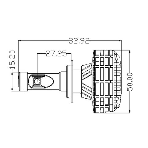 Набір світлодіодного головного світла UP-6HL (H7, 3000 лм) Прев'ю 3
